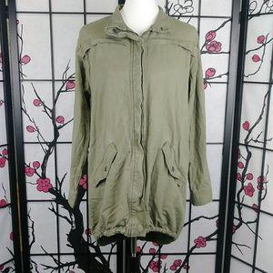 🌼 BP Olive Utility Jacket Adirondack High-Low